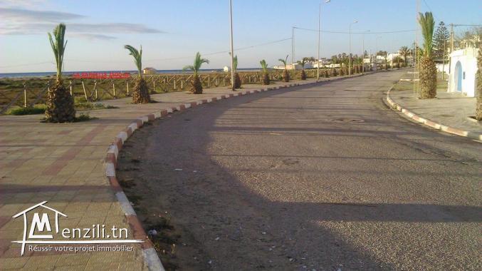 Maamoura plage vend terrain de 2500 m2 pieds dans l'eau