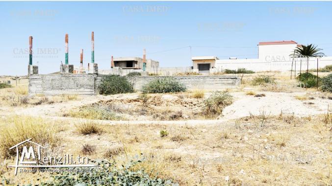 un terrain  de 300 m2 a Oued Ellil