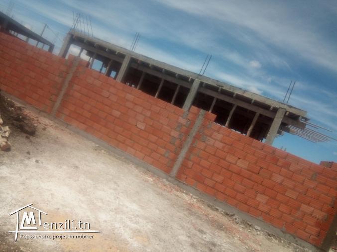 Maison en cours de construction a bizerte sud