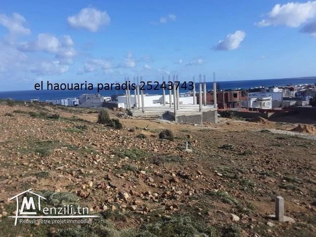 un terrain a vendre à la plage d'el Haouaria