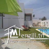 villa avec piscine houmt souk route aeroport Djerba