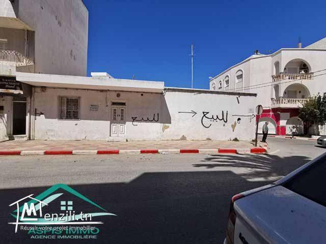 Maison arabe 186 m² sur route  commercial principale au centre ville kelibia