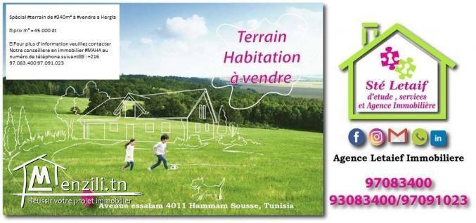 Terrain a Hergla de 340 m²