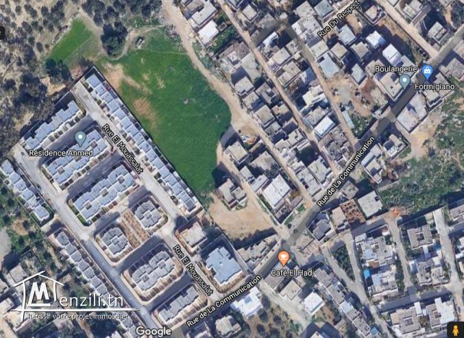 Terrain à vendre à Cité Essahafa-Ghazela