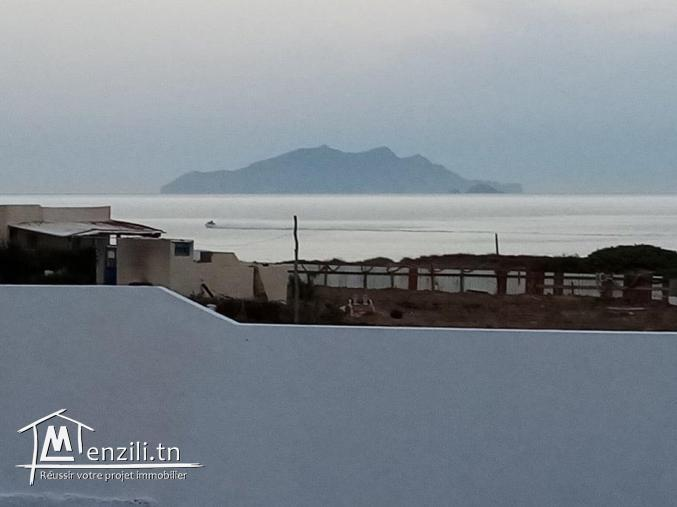 villa a louer au bord de la mer d'el haouaria cap bon