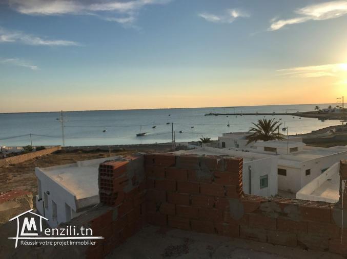 A vendre une villa inachevée -plage Marset 20 chergui kerkennah