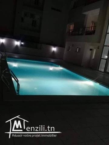 hammamet : a louer studio  bien equipe avec piscine