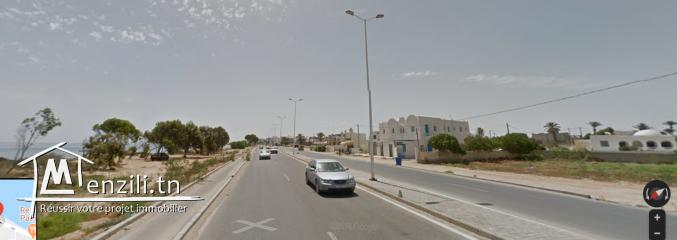 Beau Terrain de 1051m² sur vue de mer Sidi Zayed Houmet Essouk