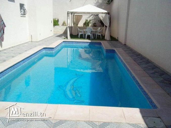 villa avec piscine  pour famille