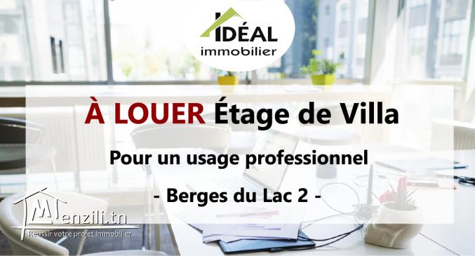 """""""Etage de villa – usage professionnel"""