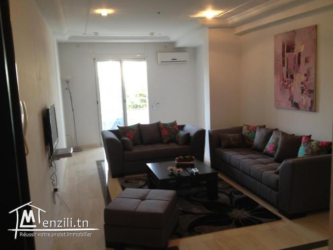 S+2 meublé THS de 120 m2 pour longue durée à Riadh el Andalous