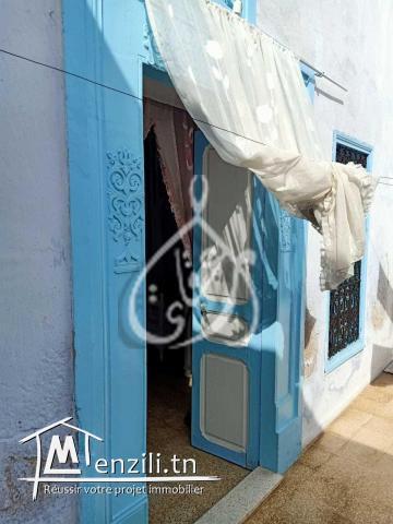 Maison arabe zone salle couverte à Hammamet centre