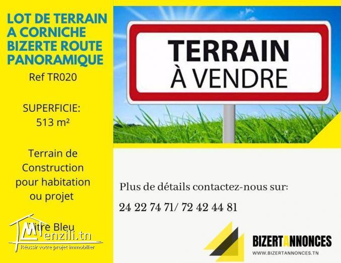 A vendre lot de terrain sur la route touristique Karniche