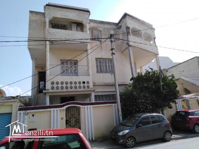 a vendre villa R+2 en plein centre du BARDO : Rue de beyrouth