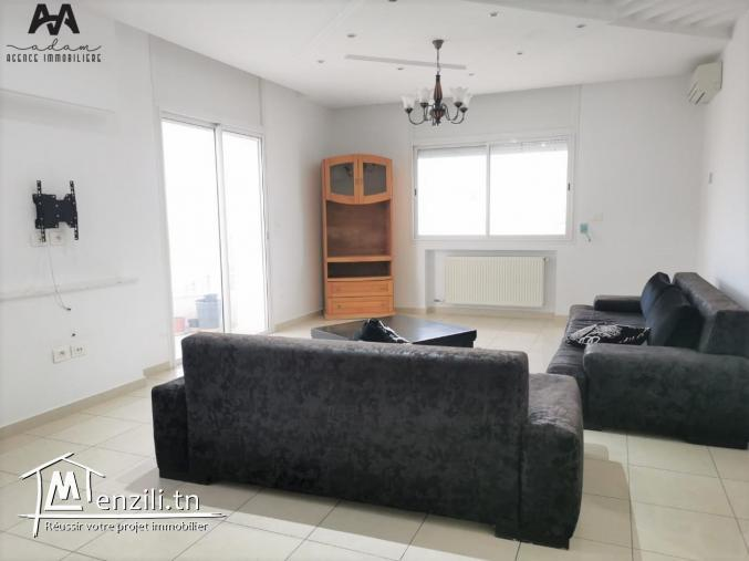 Un S+2 meublé au 2ème étage à Oued Souhil, Nabeul