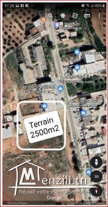 terrain 2500m2 a vendre