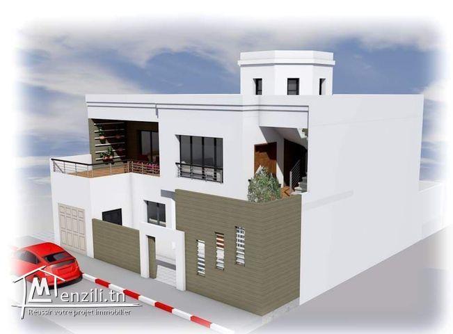 A vendre une Villa style américain inachevée à cité malouf