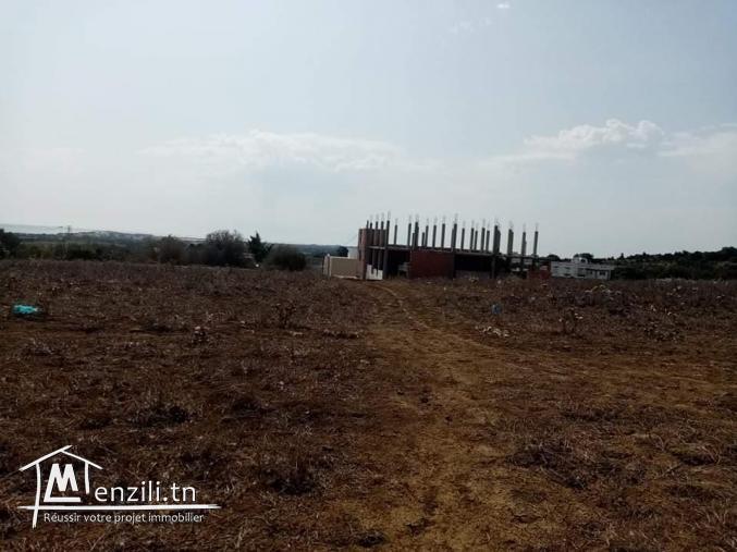 Terrain à vendre 3000 m2 situé à ezzahra hamem ghezez 400 m à plage ezzahra