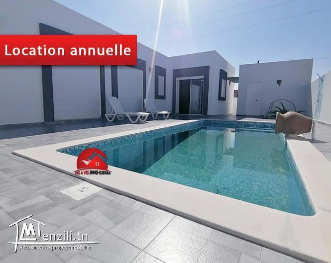 Villa avec piscine - location annuelle