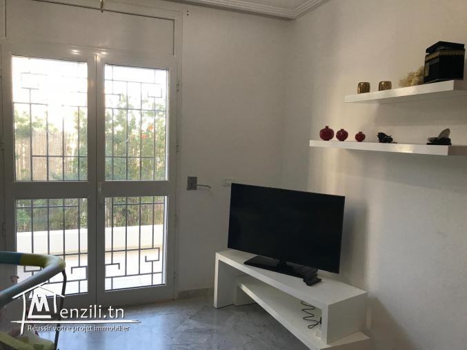 Appartement S+2 avec jardin QUARTIE CHIC Ain Zaghouan Nord