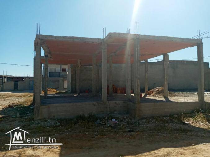 Maison inachevee à raoued centre 49mdمنزل للبيع رواد