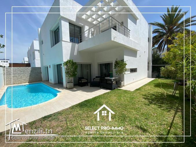 A louer Villa S+3 meublée à Hammamet Nord -Réf51a