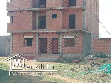 للبيع منزل في طور البناء في الشط القبلي الهوارية