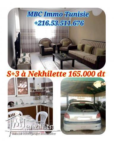 appartement s+3 à nekhuilette route de raoued ariana