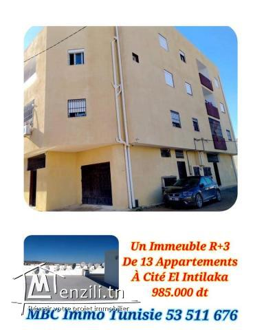 un immeuble r+3 de 13 appartements à cité el intilaka