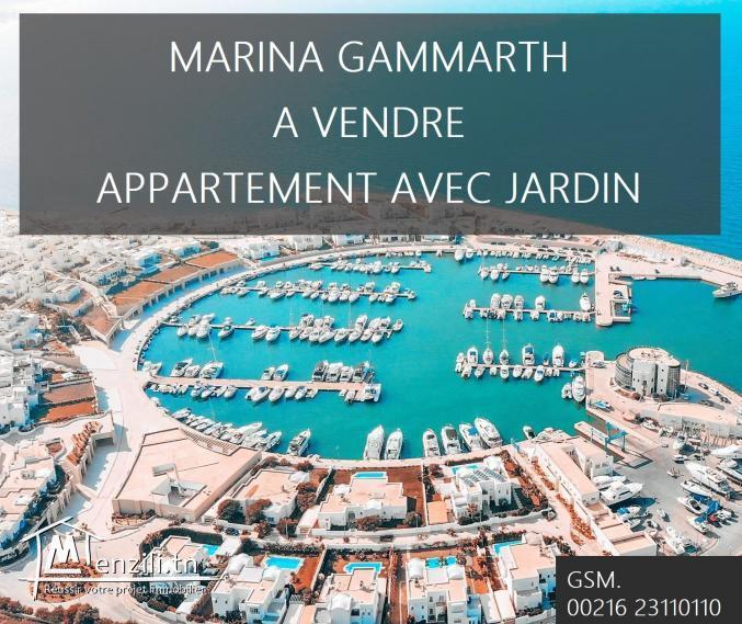 MARINA GAMMARTH APPART AVEC JARDIN A VENDRE