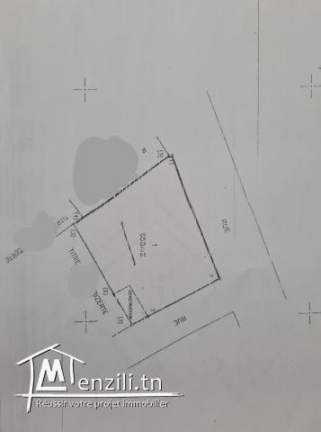 Ref 3118 : Terrain de 680 m² à sidi salem bizerte