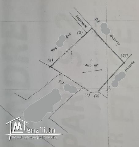 Ref 3119 : Un terrain de 485 m² à cité de la santé