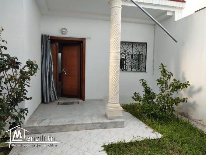 Etage de villa à louer en S+2 meublé avec jardin Hammamet Nord
