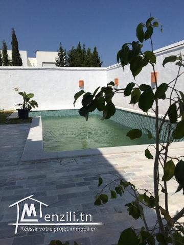 Villa meublé à louer en S+4 avec piscine à Yasmine Hammamet