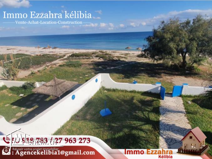 Villa S+3 pieds dans l'eau à kélibia Ain Grinz