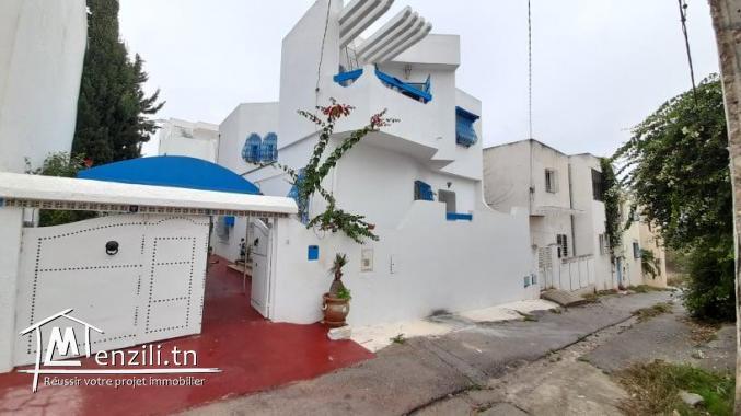 Villa à vendre en S+3 avec jardin sur un terrain de 220m² à Manaret Hammamet