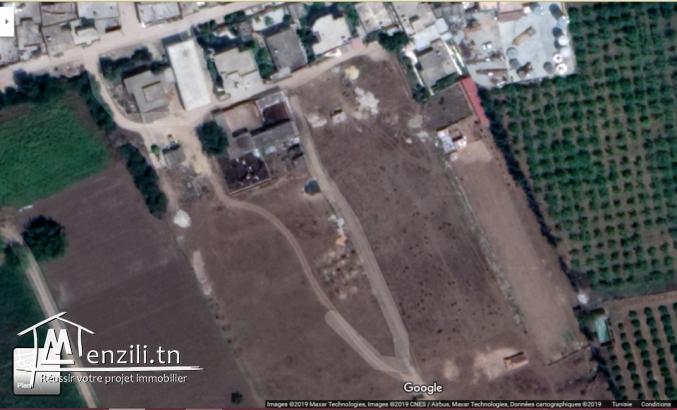 قطع أرض مقسمة للبيع بمنوبة زوناف حي الرياض الجديدة