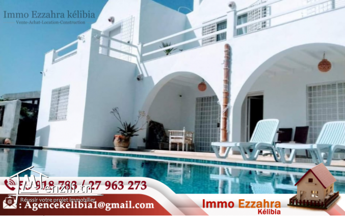 villa Haut Standing avec une piscine et grand jardin à Ezzahra