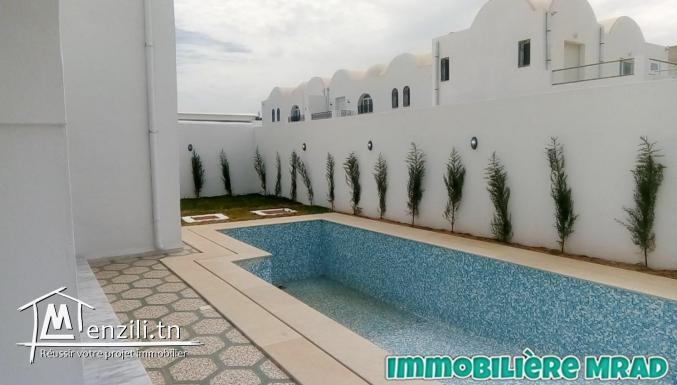 AV une belle villa toute neuve à Hammamet nord zone théâtre.