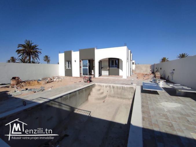 Deux maisons plain pieds avec piscine à vendre a Djerba Tunisie