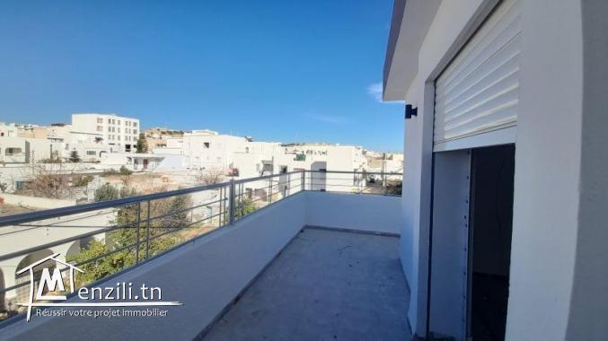 Appartement en S+1 de 60m² habitable et 40m² terrasse à Hammamet Centre