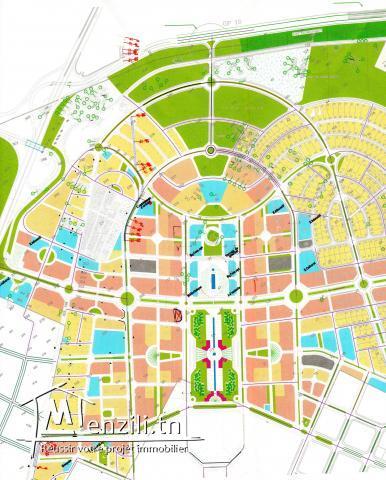 Résidence El Fell aux Jardins de Carthage Appartement S+2 au RDC avec terrasse de 68 m²