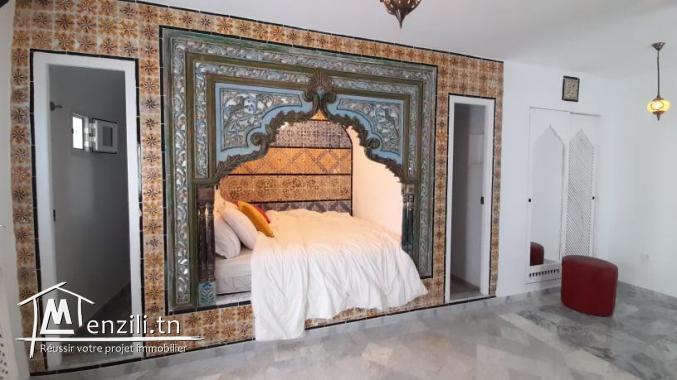 Un joli studio meublé à louer de style arabesque Hammametois à Hammamet Sud