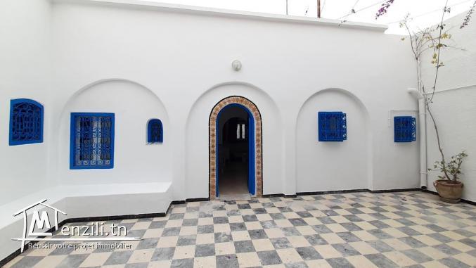 Maison à louer en S+2 de style arabesque à Hammamet Centre