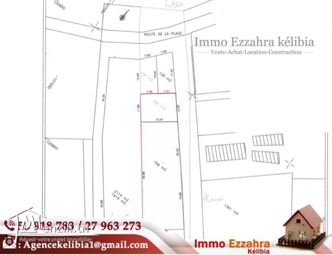 Deux terrains constructibles à plage Ezzahra-Hammem El Ghzèz