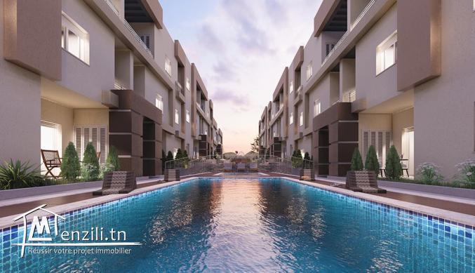 Villas et Duplex A VENDRE : Résidence TILEL vue de mer , Chott Meriem