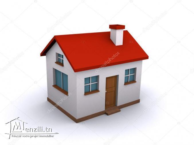 une maison à bardo deux étages