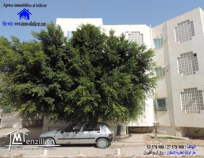 للبيع بسوسة حي الرياض 5 شقة  في الطابق الارضي