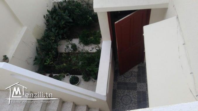 A vendre une villa et un appartement au 1er étage , à cité El Hana - Bizerte