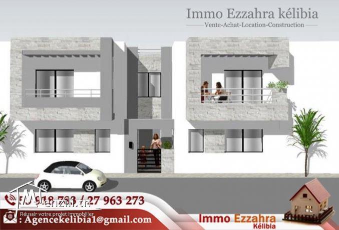 Des appartements s+2 en cours de construction à plage ezzahra